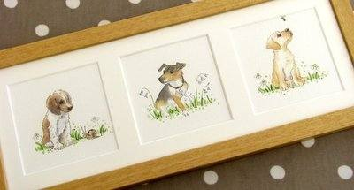 Set of Three Mini Pet Portraits watercolour