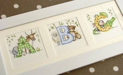 ABC nursery watercolour