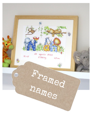 <!-- 010 -->Watercolour Name Paintings Framed
