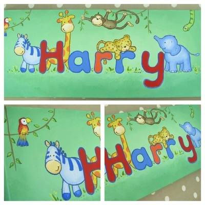 Harry name canvas 20 by 8 inches
