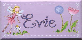 Evie door plaque