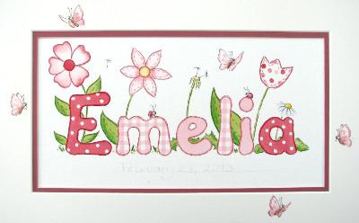 Emelia name painting