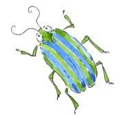 bug green blue