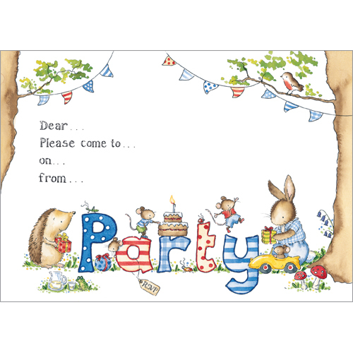 Animal Tea Party Invitations
