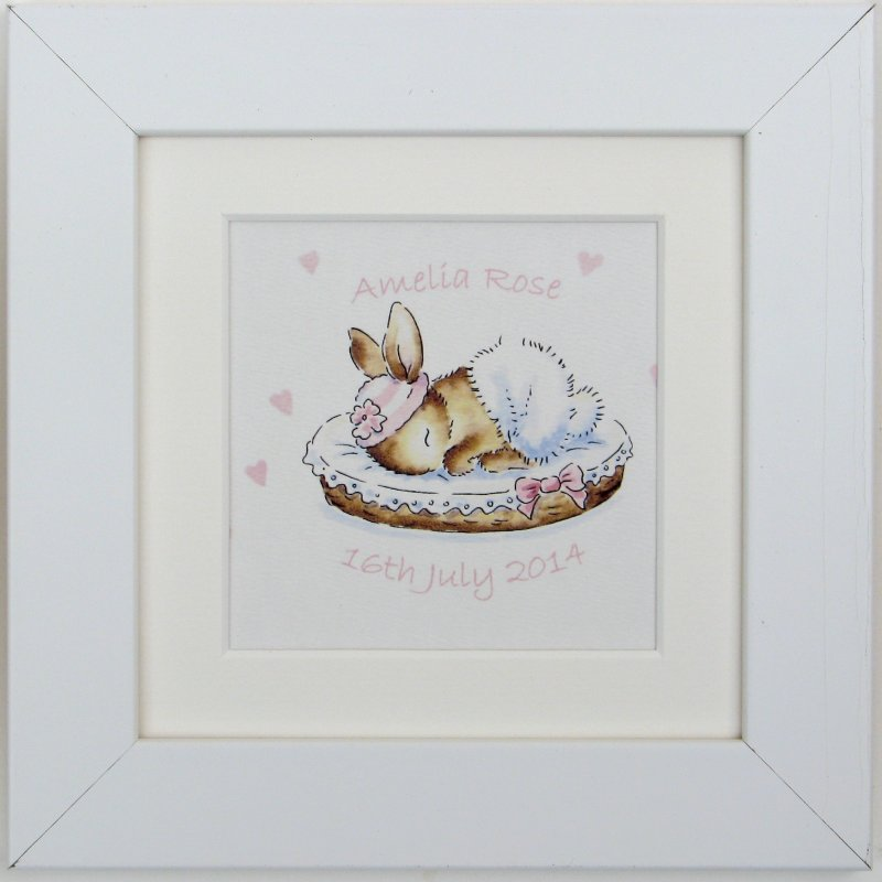 Baby Bunny watercolour or print