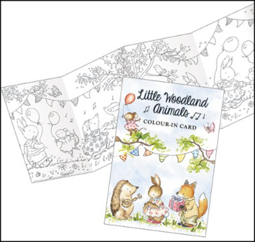 Little woodland animals colour in card