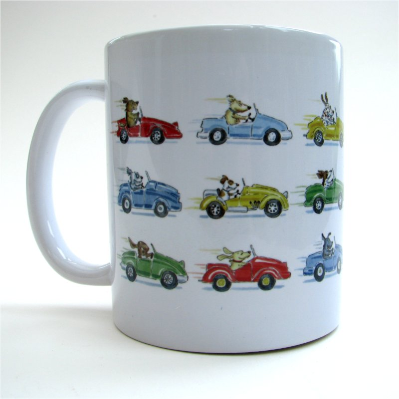 Driving Dogs Home mug