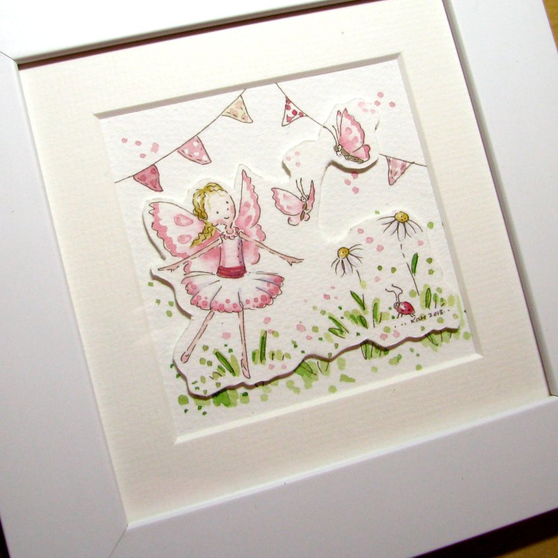 Decoupage Mini Fairy watercolour