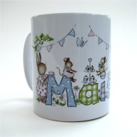 Full sized ceramic name mug