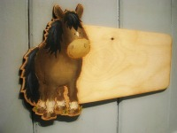 Cut out pony plaque
