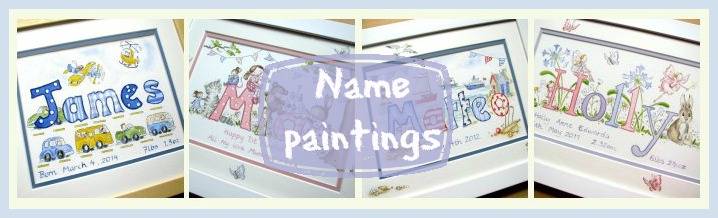 name paintings banner