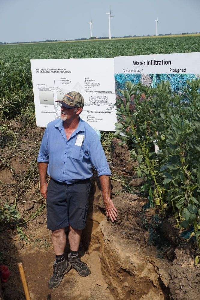 Dick Neale will be in a soil pit