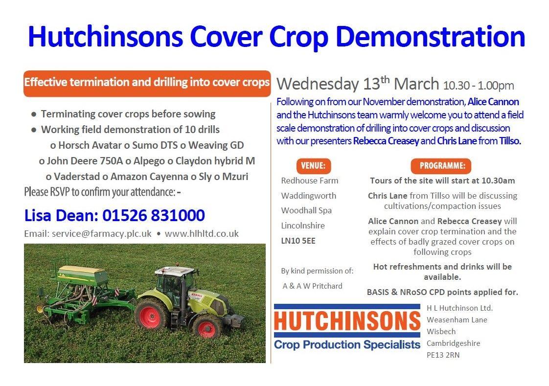 Waddingworth Cover Crop Demonstration Invitation