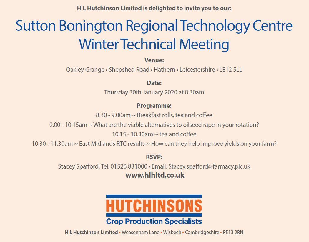 Sutton Bonington RTC Winter Technical Meeting