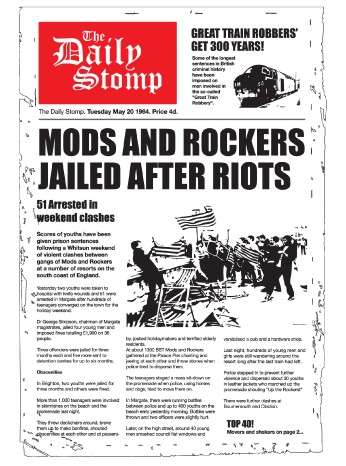 Mods and rockers battle t shirt