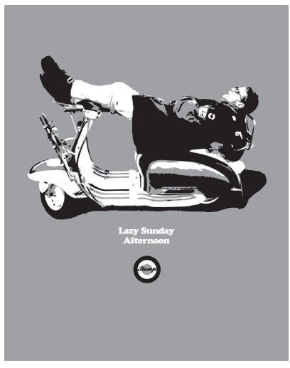 lazy sunday afternoon scooter t shirt
