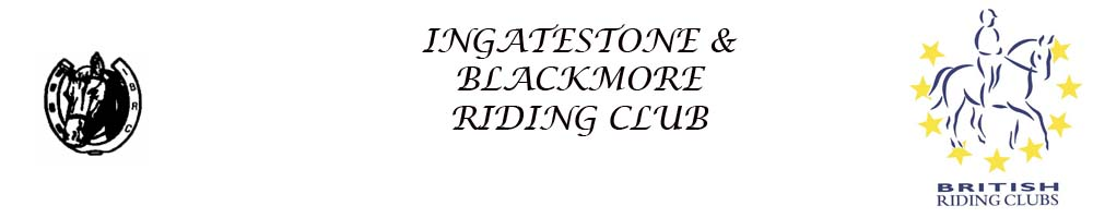 INGATESTONE AND BLACKMORE RIDING CLUB, site logo.