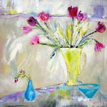 Yellow Jug - 63 x 63 cms - Acrylic on Canvas SOLD