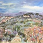 Looking towards Florence - Mixed media on canvas - 80 x 100cm SOLD