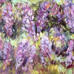 Wisteria - Mixed media on canvas - 80 x 100cm