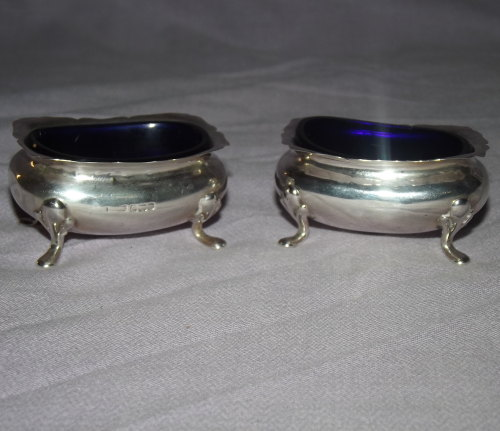 Pair of Silver Salts, Sheffield, 1909.