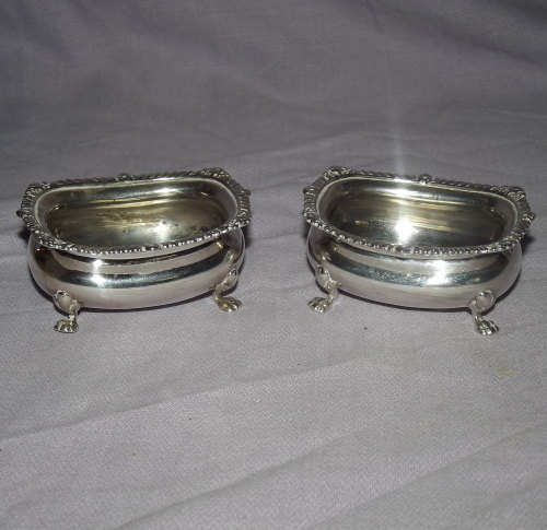 Pair of Silver Salts, London, 1919.