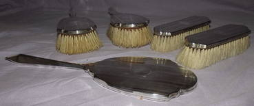 Silver Dressing Table Set Birmingham 1931 (3)