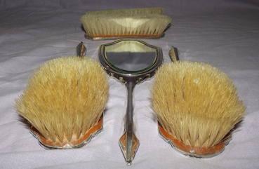 Silver Dressing Table Set Birmingham 1931 (6)