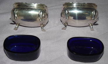 Pair of Silver Salts Sheffield 1909 (3)
