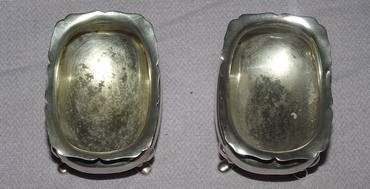 Pair of Silver Salts Sheffield 1909 (5)