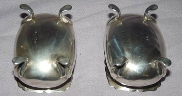 Pair of Silver Salts Sheffield 1909 (6)
