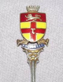 Silver Souvenir Spoon Rochester 1915 (3)