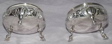 Pair of Silver Salts George II London 1748 (2)