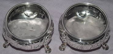 Pair of Silver Salts George II London 1748 (4)