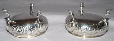 Pair of Silver Salts George II London 1748 (6)