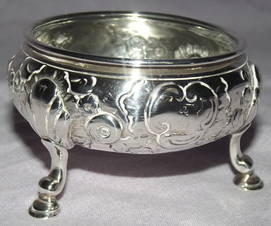 Pair of Silver Salts George II London 1748 (7)