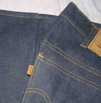 Vintage Orange Tab Levi Jeans Flares (2)