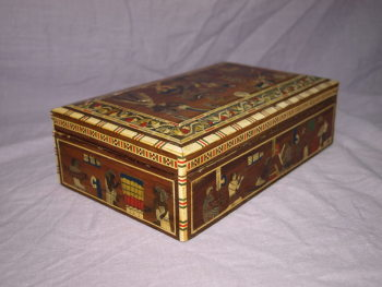 Egyptian Inlaid Wooden Box (3)