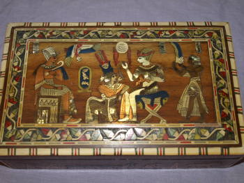 Egyptian Inlaid Wooden Box (5)