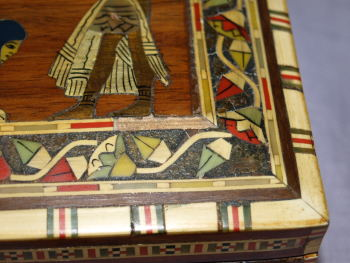 Egyptian Inlaid Wooden Box (6)