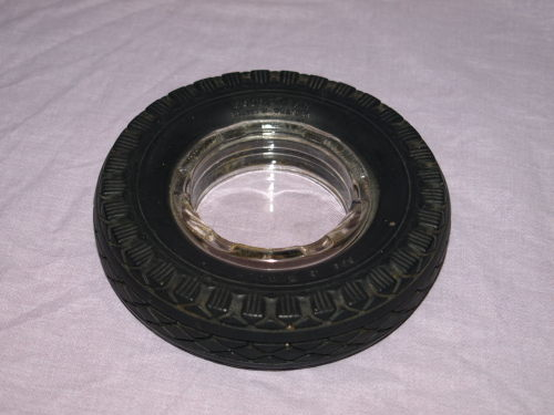 Goodyear 650-16 Deluxe All Weather Tyre Ashtray.