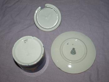 Carlton Ware Mikado Pattern Lidded Jam Pot And Saucer (2)