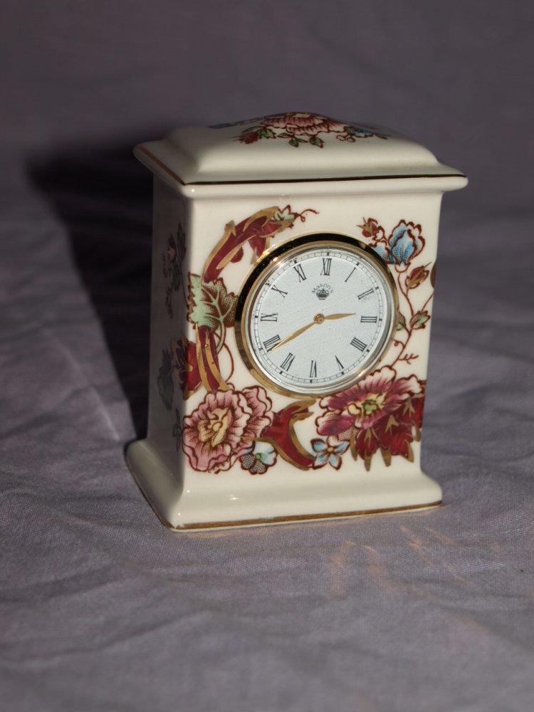 Masons Red Mandalay Clock.