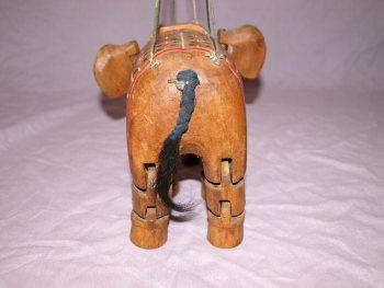 Vintage Wooden Marionette Elephant Puppet (5)
