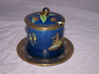 Carlton Ware Mikado Pattern Lidded Jam Pot And Saucer