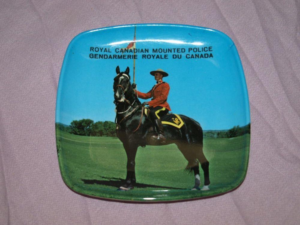 Vintage Melamine Dish, Royal Canadian Mounted Police.