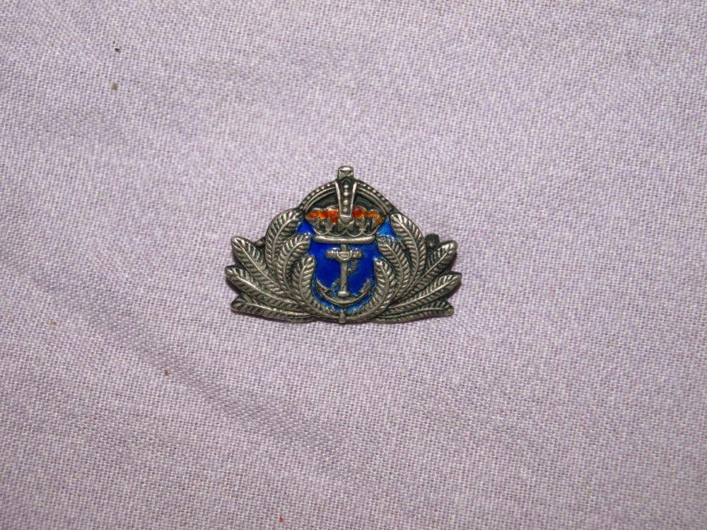 Royal Navy Sterling Silver & Enamel Sweetheart Brooch.