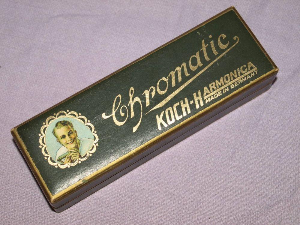 Koch Chromatic 10 Hole Harmonica with Original Box.