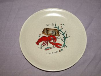 Crown Devon 'Oceania' Gravy Boat and Dish. (5)