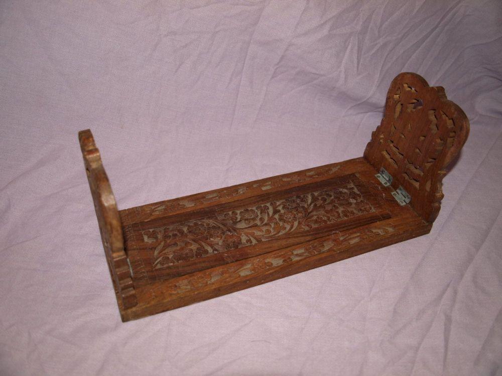 Carved Wooden Folding Book Slide.